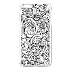 These Flowers Need Colour! Apple Iphone 6 Plus/6s Plus Enamel White Case