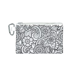 These Flowers Need Colour! Canvas Cosmetic Bag (S)