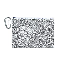 These Flowers Need Colour! Canvas Cosmetic Bag (M)