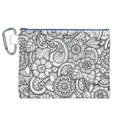 These Flowers Need Colour! Canvas Cosmetic Bag (XL)