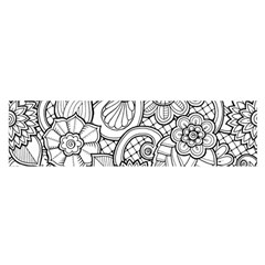 These Flowers Need Colour! Satin Scarf (Oblong)