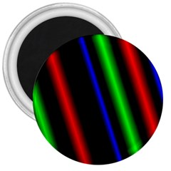 Multi Color Neon Background 3  Magnets