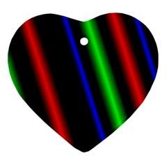 Multi Color Neon Background Ornament (Heart)
