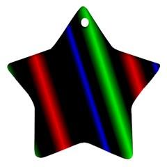 Multi Color Neon Background Ornament (star)