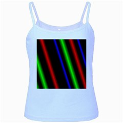 Multi Color Neon Background Baby Blue Spaghetti Tank