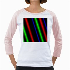 Multi Color Neon Background Girly Raglans