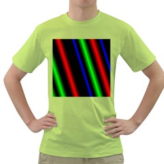 Multi Color Neon Background Green T Shirt