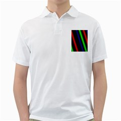 Multi Color Neon Background Golf Shirts