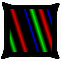Multi Color Neon Background Throw Pillow Case (black)