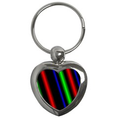 Multi Color Neon Background Key Chains (Heart)