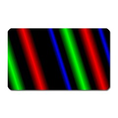 Multi Color Neon Background Magnet (Rectangular)