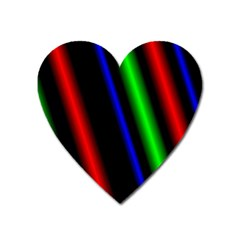 Multi Color Neon Background Heart Magnet