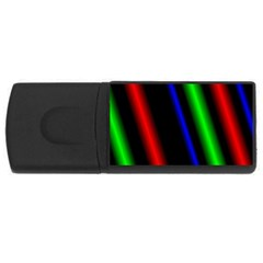 Multi Color Neon Background USB Flash Drive Rectangular (1 GB)