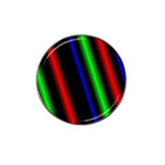 Multi Color Neon Background Hat Clip Ball Marker