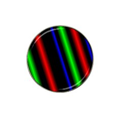 Multi Color Neon Background Hat Clip Ball Marker (4 Pack)