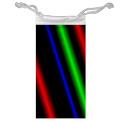 Multi Color Neon Background Jewelry Bag