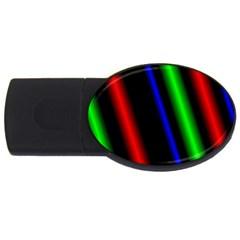 Multi Color Neon Background USB Flash Drive Oval (4 GB)