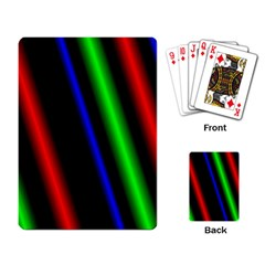 Multi Color Neon Background Playing Card