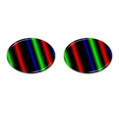 Multi Color Neon Background Cufflinks (Oval)