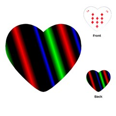 Multi Color Neon Background Playing Cards (Heart)
