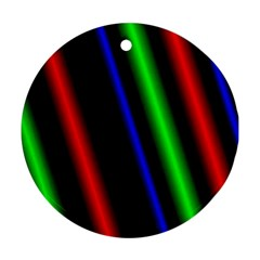 Multi Color Neon Background Round Ornament (Two Sides)