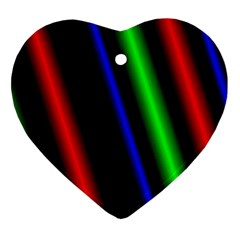 Multi Color Neon Background Heart Ornament (two Sides)