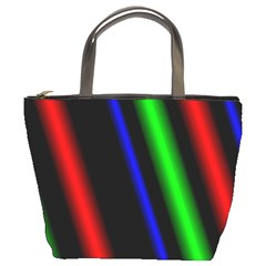 Multi Color Neon Background Bucket Bags
