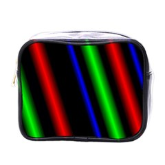 Multi Color Neon Background Mini Toiletries Bags