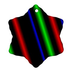 Multi Color Neon Background Snowflake Ornament (two Sides)