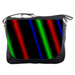 Multi Color Neon Background Messenger Bags
