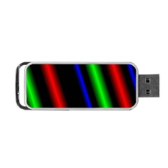 Multi Color Neon Background Portable USB Flash (One Side)