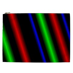 Multi Color Neon Background Cosmetic Bag (XXL)