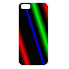 Multi Color Neon Background Apple iPhone 5 Seamless Case (White)