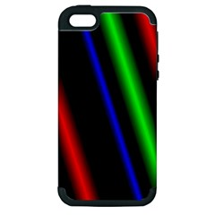 Multi Color Neon Background Apple iPhone 5 Hardshell Case (PC+Silicone)
