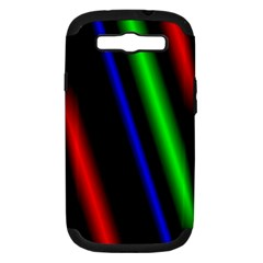 Multi Color Neon Background Samsung Galaxy S III Hardshell Case (PC+Silicone)