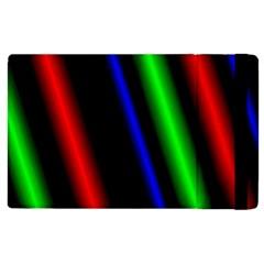 Multi Color Neon Background Apple iPad 2 Flip Case