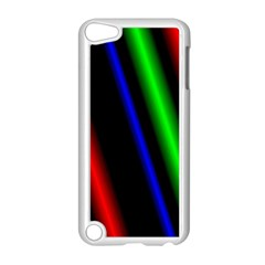 Multi Color Neon Background Apple iPod Touch 5 Case (White)