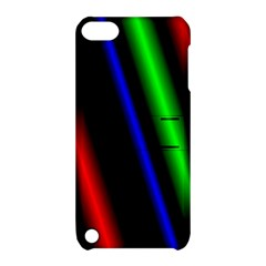 Multi Color Neon Background Apple iPod Touch 5 Hardshell Case with Stand