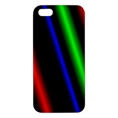 Multi Color Neon Background iPhone 5S/ SE Premium Hardshell Case