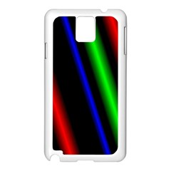 Multi Color Neon Background Samsung Galaxy Note 3 N9005 Case (White)