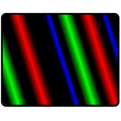 Multi Color Neon Background Double Sided Fleece Blanket (Medium)