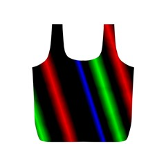 Multi Color Neon Background Full Print Recycle Bags (S)