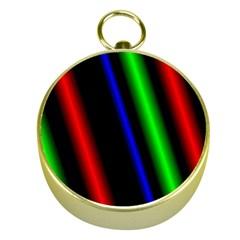 Multi Color Neon Background Gold Compasses