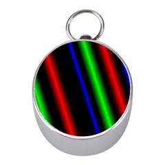 Multi Color Neon Background Mini Silver Compasses