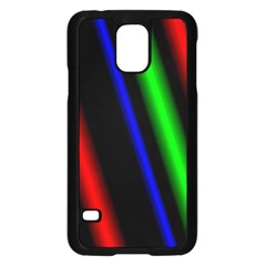 Multi Color Neon Background Samsung Galaxy S5 Case (Black)