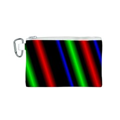 Multi Color Neon Background Canvas Cosmetic Bag (S)
