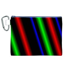 Multi Color Neon Background Canvas Cosmetic Bag (XL)