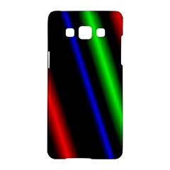 Multi Color Neon Background Samsung Galaxy A5 Hardshell Case
