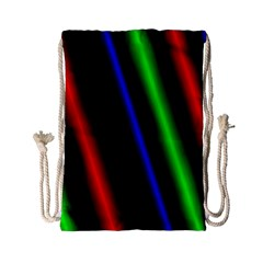 Multi Color Neon Background Drawstring Bag (Small)