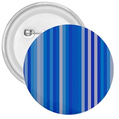 Color Stripes Blue White Pattern 3  Buttons